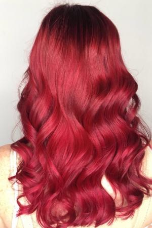 Red Balayage and Tints